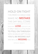 All Time Low - Missing You - Funky Lyric Art Print - A4 Size
