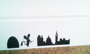 """Mouse Hole """" DAY TRIP TO LONDON """" Skirting Board Wall Art Sticker Vinyl Decal """" 19cm x 6cm..UK SELLER"""