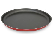 Menax - Non Stick Pizza Pan Made in Italy - Pizza Pan Baking Tray - Ø 30 cm - Red