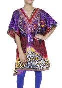 Printed Dress Caftan Nightwear Bohemian Short Cotton Kaftan Summer Dress