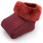Footwarmer Foot Muff Sheepskin red
