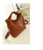Versatile Leather Handbag - Brown