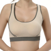 Women Padded Top Athletic Vest Gym Fitness Sports Bra - Small
