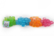 NEW 20 NEON REUSABLE ICE CUBES IN NET 4 DIFFERENT COLOURS PINK ORANGE GREEN BLUE