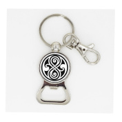 movie dr doctor who bomb bottle opener keychain bronze silver police time lord bottle opener keyring chain mens women