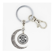 movie dr doctor who bomb full moon keychain silver police time lord full moon keyring chain mens women