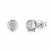 JOOLS by Jenny Brown ®5mm Rub Over Cz Silver Stud Earring
