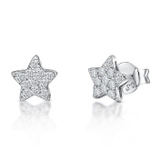 JOOLS by Jenny Brown ® Earrings Featuring A Pave Set Star Stud