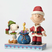 Peanuts Snoopy by Jim Shore 4052721 Holiday Helpers Charlie Brown and Snoopy