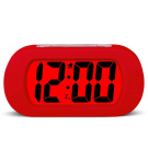 HENSE Large Digital Display Luminous Alarm Clock With Snooze, Night Light And Light Sensor Function, Large LCD Display Shockproof Silicone Protective Cover, Simple Setting, Progressive Alarm, Batteries Powered, Operated For Travel ,Office and Home Beds ..