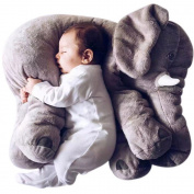 SGS Baby Elephant Stuffed Plush Pillows Grey, 60cm