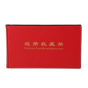 20 Pages Paper Money Currency Banknote Collection Book Storage Album Red