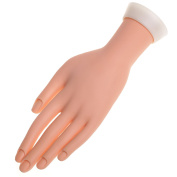 1x Hard Fake Hand Dummy Tool for Nail Art Manicure Pedicure Practise Design