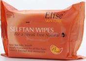TWELVE PACKS of Elise 25 Self Tan Wipes