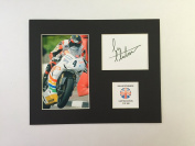 LIMITED EDITION IAN HUTCHINSON SIGNED DISPLAY PRINTED AUTOGRAPH AUTOGRAPH AUTOGRAF AUTOGRAM SIGNIERT SIGNATURE MOUNT FRAME