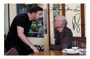 Larry David & Ricky Gervais - Curb Your Enthusiasm Signed Autographed A4 Photo Print Poster