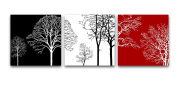 Wieco Art - Colourful Tree Modern 3 Panels Modern Giclee Canvas Prints Contemporary Artwork Flower Pictures Photo Painting on Canvas Wall Art for Home Office Decorations Wall Decor P3RAB005_f1