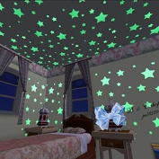 100pcs Glow In The Dark Plastic Stars
