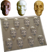 11 CAVITY SKULLS MOULD FOR CHOCOLATE SOAP WAX MELTS mould