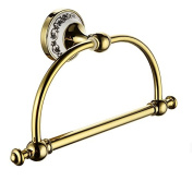 Ownace Gold Victorian Style Bathroom Accessory Towel Ring Towel Rack Towel Hanger Toilet Wall Mounted