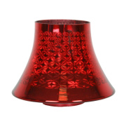 Red Cheque Village Candle Jar Lamp Shade 16cm - VC642