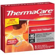 ThermaCare Air-Activated Heatwraps, Neck, Wrist & Shoulder, 3 Heatwraps