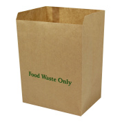 8 Litre x 75 Paper Compostable Bags Kitchen Caddy Liners - Food Waste Bin Liners - EcoSack 8L Biodegradable Bags with Composting Guide