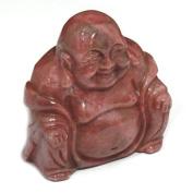 Rhodonite Carved Sitting Buddha Statue
