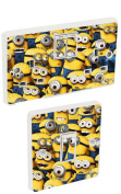 Despicable Me Minions Light Switch & Double Socket Sticker Vinyl / Skin cover sosw1