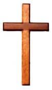 20cm wooden Mahogany very large wall hanging cross brown wood
