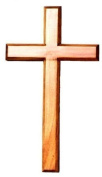 80cm wooden Mahogany very large wall hanging cross brown wood