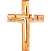 Holy Land Jesus Handmade Jesus Olive Wood Wall Hanging Cross