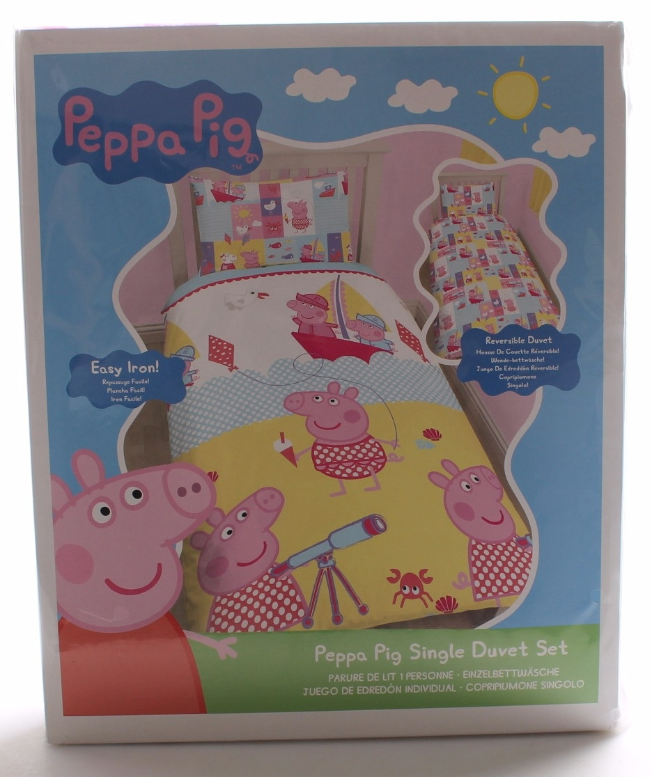 Character World Single Peppa Pig Nautical Duvet Set By Character
