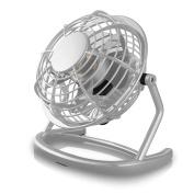 CSL - desk-fan / Fan to connect i.e. with the PC | desk fan / Fan | for PC / Notebook | Windows / Apple compatible | grey