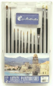 Chiltern Arts - 12 Artist Paint Brushes - Assorted Sizes