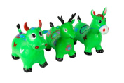 BETSY Happy Hopperz - X-Large Cow ( Green ) Space Hopper Crazy Bouncer W/Pump. UK Seller? Premium Quality?
