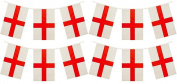 3 x Packs Quality England St George Flag Bunting Decorations Total 11m 33 Flags