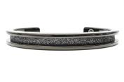 signature by Maria Shireen - Hair Tie Bracelet - Steel Black Glitter - Medium