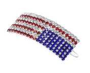 4th of July US American Flag Patriotic Hairpin
