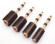 Pretty In a Minute Boar Bristle Wood Round Brushes Set