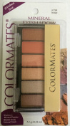 Colormates Mineral Eyeshadow, Beige, #61764, 6 Different Colours + Applicator Brush, .740ml/7.2g