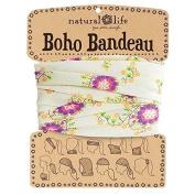 Natural Life Boho Bandeau Band, Cream/Pink Floral