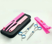 ACELIST® Professional Hair Fixer Set,Hair Cutting & Thinning Scissors Shears Hairdressing Set with a Black Case