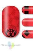 Minx Nals Minx Plaid Nail Decals Red and Black Transparent