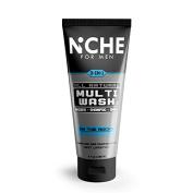 Niche for Men 3-in-1 Multi Wash Shower Gel Shampoo Shave On The Rocks Peppermint 250ml