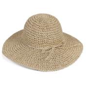 Ewandastore Women Ladies Straw Sun Visor Wide Large Brim Floppy Fold Swimming Beach Bohemia Sun Hat for Holiday Travel Beach