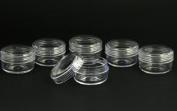 6pc Clear Screw Top Plastic Jars