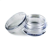 GBSTORE 3 Gramme High Quality Plastic Container Jars Clear empty Cosmetic Containers