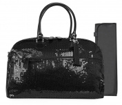 Trumpette Schleppbags Nappy Bag in Black Sequin, Large