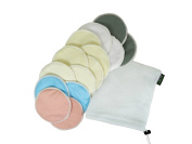 Go Active Lifestyle Organic Bamboo Nursing Pads (14 Pack) With Laundry Bag - Ultra Soft, Reusable, Hypoallergenic, Washable Breastfeeding Pads